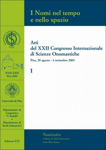 Cover of Pisa Congress proceedings (vol. 1)