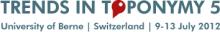 Trends in Toponymy 5 logo