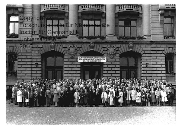 Participants of the 12th ICOS Congress, held in Berne in 1975.
